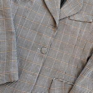 🍁Host PICK🍁VINTAGE Houndstooth 80s blazer